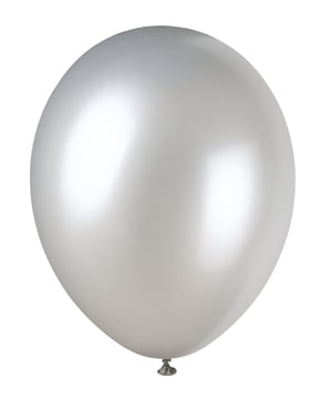 8 metallic silver balloon (30 cm) - Basic Colours Line