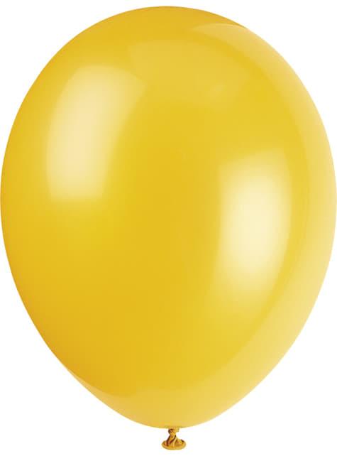 10 globos colores pastel variados (30 cm) - Línea Colores Básicos - para tus fiestas