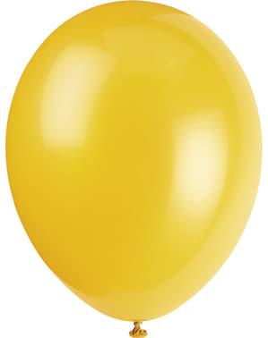 Luftballon Set Pastellfarben 10-teilig - Basic-Farben Kollektion
