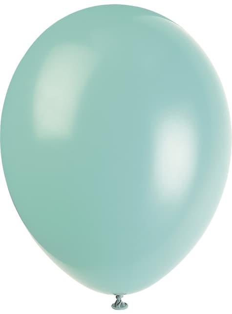 10 kpl eri pastellinväristä ilmapalloa - Perusvärilinja