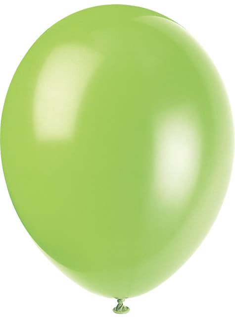 10 ballons couleurs pastel variés - Gamme couleur unie