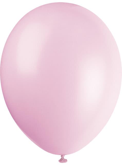 10 globos colores pastel variados (30 cm) - Línea Colores Básicos - el más divertido
