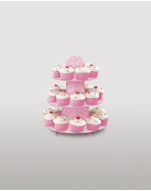 Base para cupcakes grande cor-de-rosa