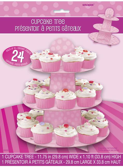 Base para cupcakes grande rosa - para tus fiestas