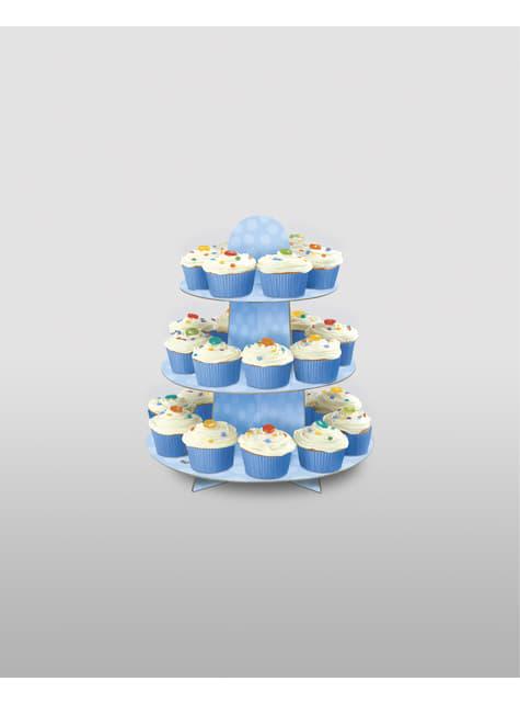 Großer Cupcake Teller blau
