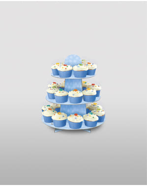 Big blue cupcake base