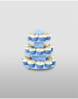 Iso sininen cupcake tarjotin