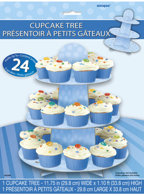 Base para cupcakes grande azul - barato