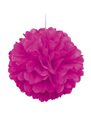 Pompon décoration rose fluo