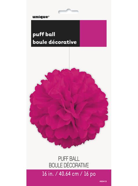 Pompón decorativo rosa neón - para tus fiestas