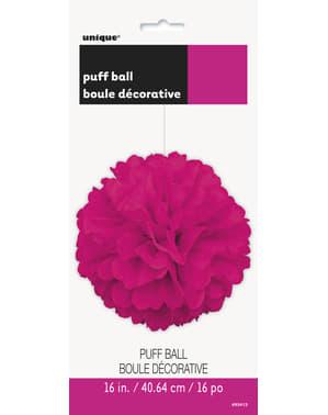 Pompón decorativo rosa neón