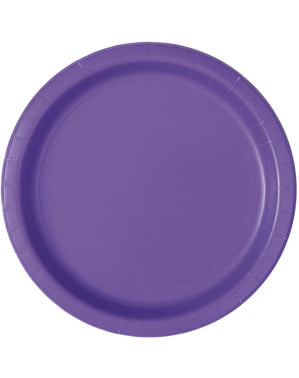 16 neon paarse borde (23 cm) - Basis Kleuren Lijn