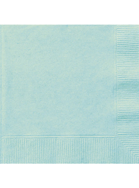 20 grandes serviettes vertes menthe