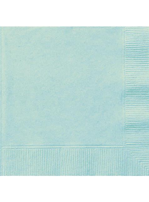 20 servilletas verde menta (33x33 cm)