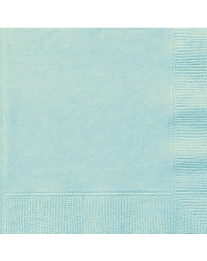 20 grote mintgroene servette (33x33 cm) - Basis Kleuren Lijn