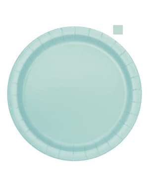 16 mint green plate (23 cm) - Basic Colours Line