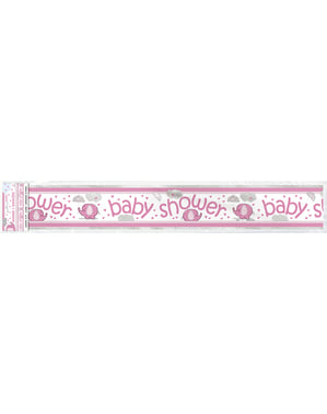 Różowy banner na Baby Shower - Umbrellaphants Pink