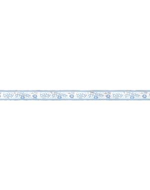 Faixa Baby Shower azul - Umbrellaphants Blue
