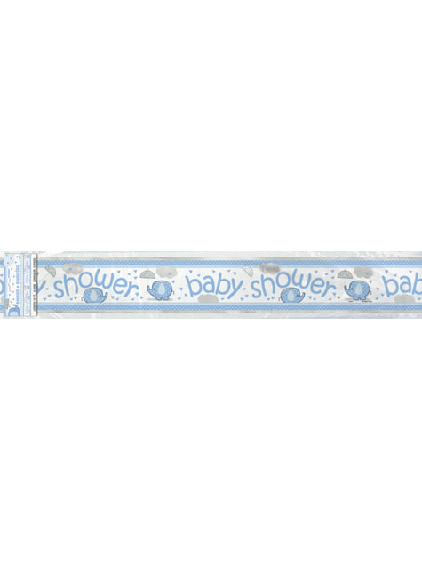 Pancarta Baby Shower azul - Umbrellaphants Blue - barato