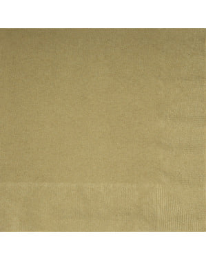 Große Servietten Set gold 20-teilig - Basic-Farben Kollektion