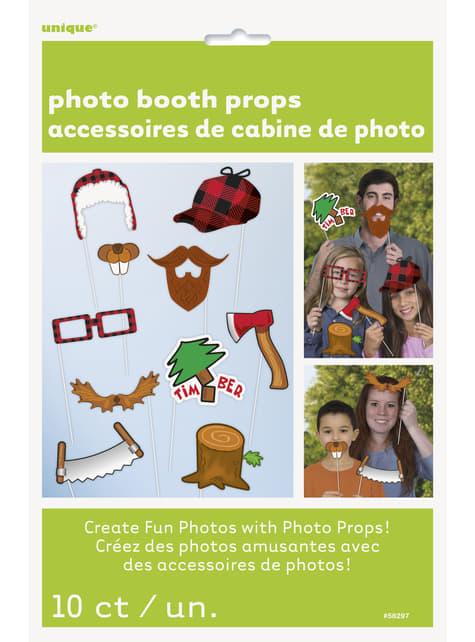 10 accessoires pour Photo booth bucheron
