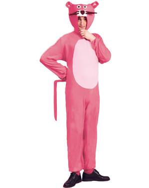 Fato de pantera cor-de-rosa