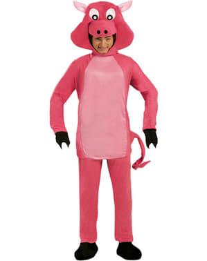 Fato de porco cor-de-rosa