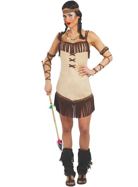 Maskeraddräkt sexig indiankvinna