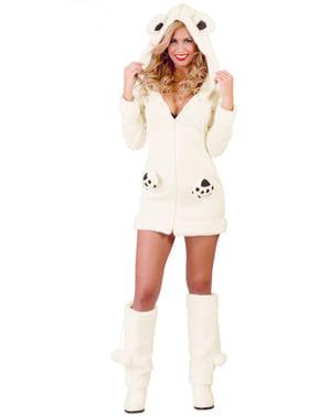 Isbjørne kostume til kvinder