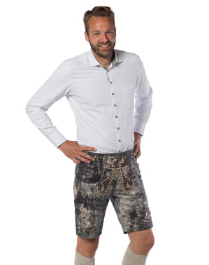 Deluxe anaconda lederhosen for men