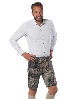 Pánské luxusní kožené kalhoty anakonda