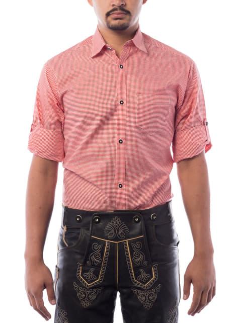 Camisa Oktoberfest vermelha para homem