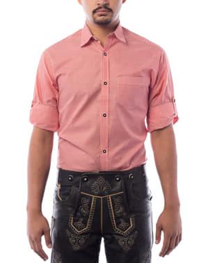 Camisa Oktoberfest roja para hombre