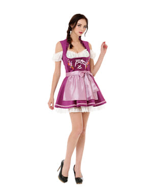 Purple Tyrolean dirndl for women