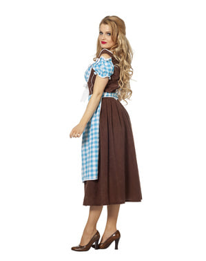 Costum albastru Oktoberfest pentru femei