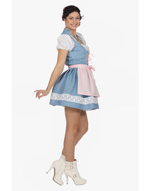 Blue Tyrolean Oktoberfest dirndl for women