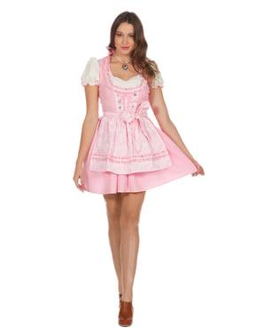 Dirndl tirolese rosa Oktoberfest per donna