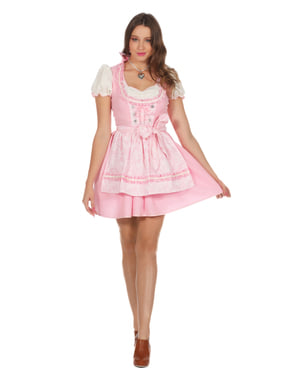 Pink Tyrolean Oktoberfest Dirndl for Women