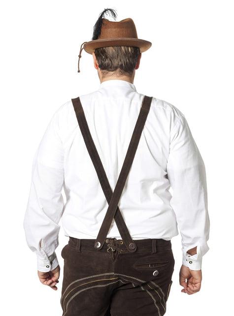 Camisa Oktoberfest blanca para hombre - original