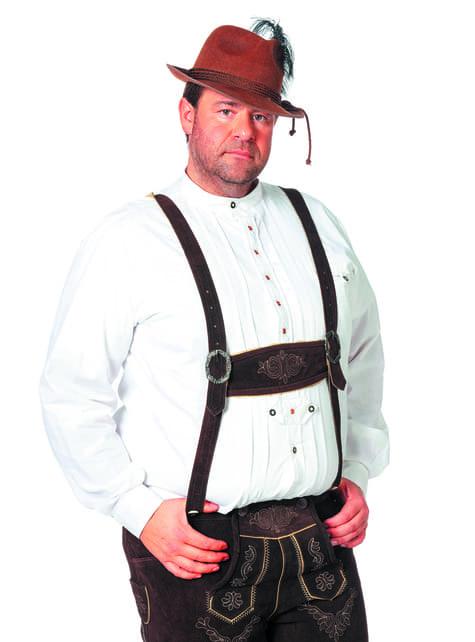 Camisa Oktoberfest blanca para hombre - hombre
