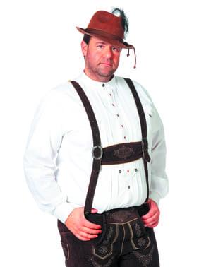 Oktoberfest overhemd wit voor mannen
