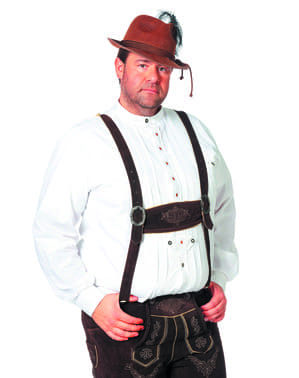 White Oktoberfest shirt for men