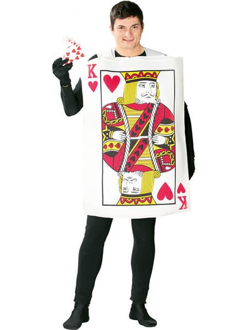 Kostium karta do gry król kier