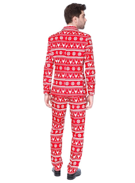 Christmas Red Nordic Suitmeister suit for men