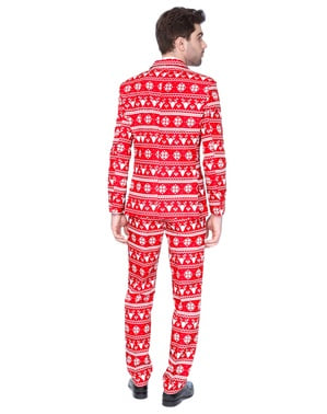 Dräkt Christmas Red Nordic Suitmeister vuxen