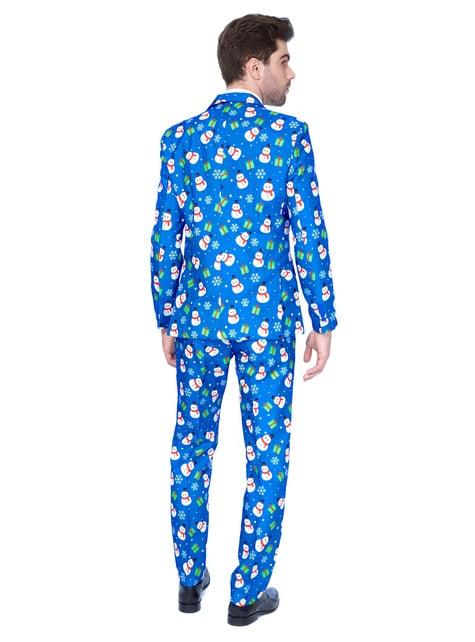 Niebieski strój Suitmeister w bałwanki dla mężczyzn