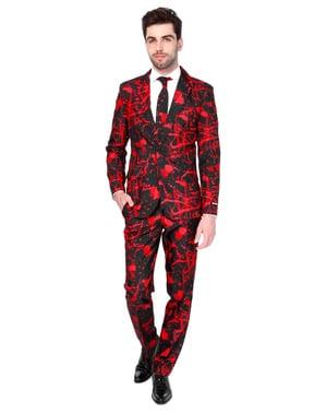 पुरुषों के लिए हैलोवीन ब्लैक ब्लड सूटमेस्टर सूट
