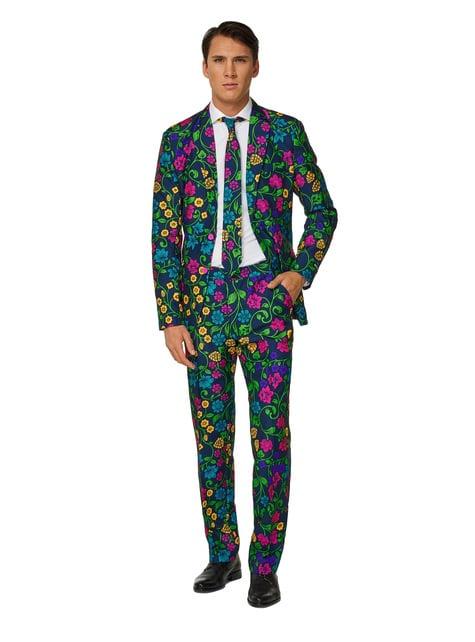 Floral Suitmeister suit for men