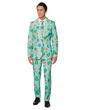 Tropisk flamingo suitmeister sæt til mænd