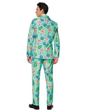 Dräkt Tropical Flamingo Suitmeister vuxen